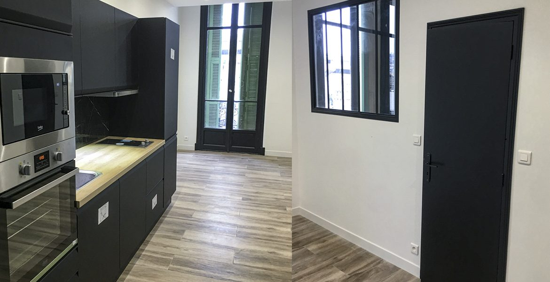 rénovation cuisine entrée appartement nice